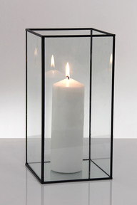 Black candle glass 30cm