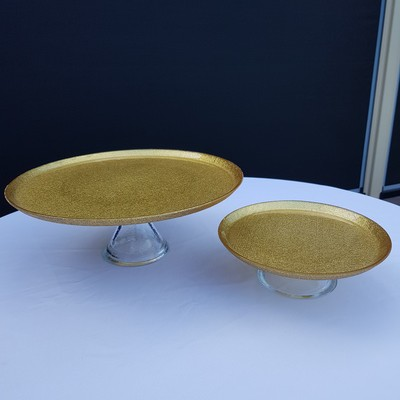 Cake plate gold 2