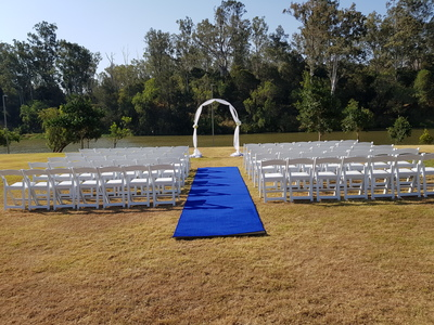 blue aisle runner