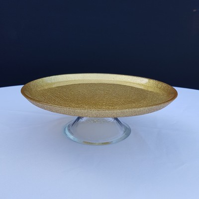 cake plate gold large