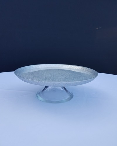 cake plate silver