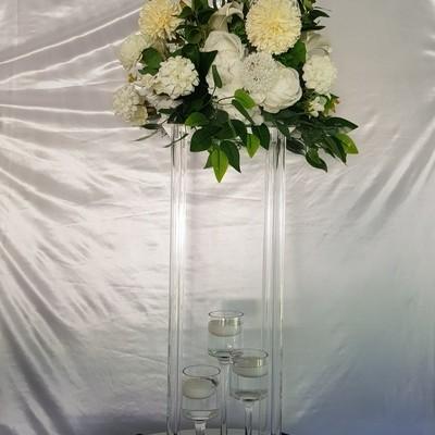 clear pedestal