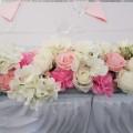 pink floral runner