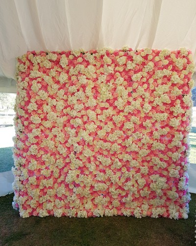 pink flower wall 1