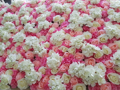 Flower wall pink white 23mw x 40cmd x 23mh crystal heart pink flower wall 1 pink flower wall mightylinksfo