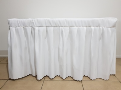 Signing table skirt