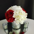 Silver vase with red flowers 400