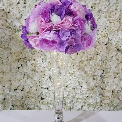 glass tall vase 400