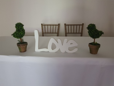 signing table Love sign 400