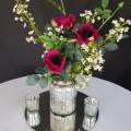 silver vase with bouquet 400